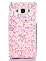 For Samsung Galaxy G530 Case Cover Small Chrysanthemum Pattern Small Fresh Series PC Material Love Quicksand Flash Powder Phone Case