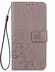 For Card Holder Wallet Case Full Body Case Solid Color Soft PU Leather for LG LG Nexus 5 LG Nexus 5X LG V20