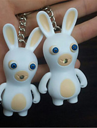Game Crazy Rabbits LED Sound Emitting Light Key Ring