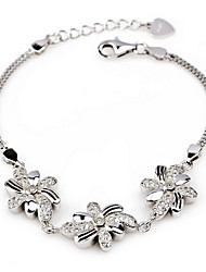Bracelet Chain Bracelet Sterling Silver Others Natural Fashion Vintage Birthday Party Jewelry Gift Silver,1pc
