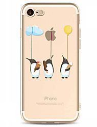 Für Muster Hülle Rückseitenabdeckung Hülle Spaß mit dem Apple Logo Weich TPU für AppleiPhone 7 plus iPhone 7 iPhone 6s Plus/6 Plus iPhone