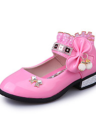 Sandals Spring Summer Fall Comfort First Walkers Flower Girl Shoes Light Up Shoes Leather Outdoor Dress Casual Low Heel BowknotPink Red