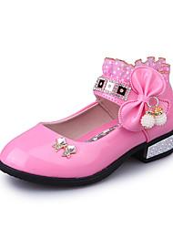 Fille-Extérieure Habillé Décontracté-Rose Rouge Rose clair-Talon Bas-Confort Premières Chaussures Flower Girl Chaussures-Sandales-Cuir