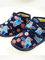 Girls' Baby Sandals Canvas Summer Casual Flat Heel Blue Flat
