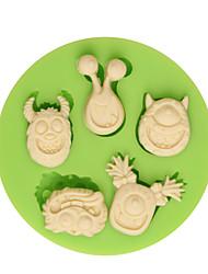 Ferramenta de Decoração Desenhos Animados 3D Para Bolo para Candy em botão Para Chocolate Para Biscoito Other SiliconeBricolage 3D Alta