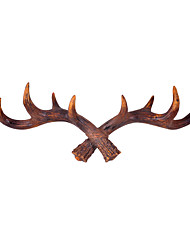 American retro resin antlers coat hook hanging cafe shop fitting room wall act the role of personality key link