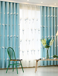Two Panels Korean Small Fresh Style Embroidery Curtain Room Restaurant Children Room Curtains