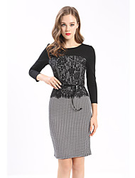 Maxlindy Women's Going out Casual/Daily Holiday Vintage Bodycon Dress