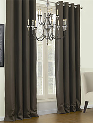 TWOPAGES® Blackout Minimalist Solid Curtain One Panel Grommet Top