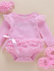 Baby Casual/Daily Solid One-Pieces,Cotton Summer Spring Long Sleeve