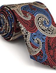B12 Mens Necktie Tie Multicolor Paisley 100% Silk Business Fashion Wedding For Men