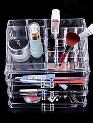 Makeup Storage Solid Quadrate Plastic Transparent Normal Unisex