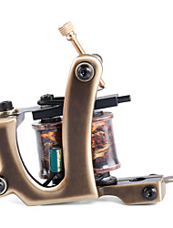 Solong Tattoo Custom Brass Tattoo Machine Gun Handmade 12 Wrap Pure Copper Coils for Liner M201-1