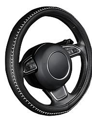 autoyouth пу кожаный руль покрытие черного цвета с белым прочный размер швейных ниток м подходит диаметр 38см / 15