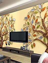 Art Deco Wallpaper For Home Wall Covering Canvas Adhesive required Mural Relief Colorful Tree Background XXXL(448*280cm)XXL(416*254cm)XL(312*219cm)