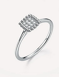Ring Silver Simple Style Silver Jewelry Daily Casual 1pc