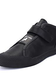 Men's Sneakers Spring Summer Fall Winter Comfort Microfibre PU Outdoor Office & Career Casual Athletic Hook & Loop Black Red
