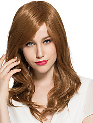 Brown Blonde Wig Synthetic Wigs Side Part Bangs For Women Costume Cosplay Wigs