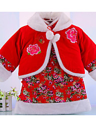 Girl Formal Solid Sets,Cotton Winter Clothing Set