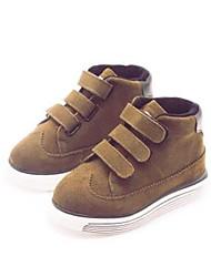 Boy's Sneakers Comfort PU Casual Black Brown