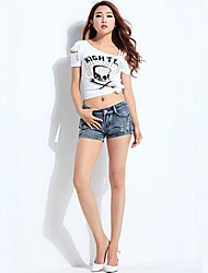 Women's Casual Denim Pants Daily Slim Short Jeans