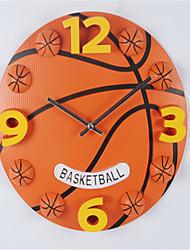 1pc  Watch Football Basketball Fitness Activity The Boy'S Bedroom Children'S Room Wall Clock Creative 3D Cartoon Wall Clock