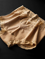 Women Sexy Solid Shaping Panties Boxers Underwear,Lace Polyester Spandex