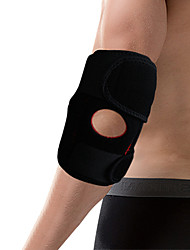 Unisex Elbow Strap/Elbow Brace Breathable Stretchy Protective Football Sports Outdoor Nylon Black