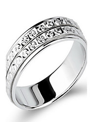 Ring Non Stone Party Daily Jewelry Sterling Silver Women Ring 1pc,12 15 18 20 22 Silver