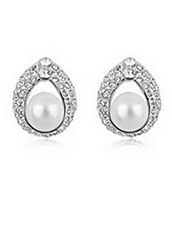 Women's Stud Earrings Pearl Natural Pearl Alloy Cross Jewelry Jewelry For Daily