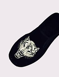Damen Loafers & Slip-Ons Leuchtende Sohlen PU Frühling Normal Leuchtende Sohlen Elastisch Flacher Absatz Schwarz Flach