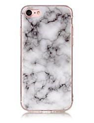 Pour IMD Motif Coque Coque Arrière Coque Marbre Flexible PUT pour AppleiPhone 7 Plus iPhone 7 iPhone 6s Plus/6 Plus iPhone 6s/6 iPhone