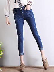 sinal 2017 primavera e verão estiramento de jeans pés sobra gato meia-calça pente fluxo suiça