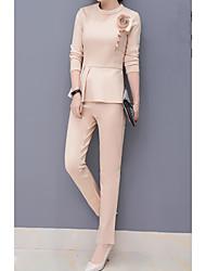 Modern suit female spring 2017 new wave of women's waist was thin pencil pants wild temperament blouse piece