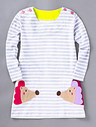 Girl's Going out Casual/Daily Striped Dress,Bamboo Fiber Summer