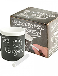 Novelty Drinkware, 480 ml  Leave  Message Ceramic Juice Milk Coffee Mug with Chalk