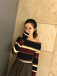 Sign striped strapless sweater