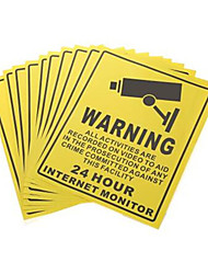Tip Warning Stickers Set (10PCS)for Into Monitoring Range Precaution