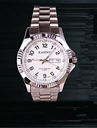 Women's Men's Fashion Watch Quartz Stainless Steel Band Charm Silver