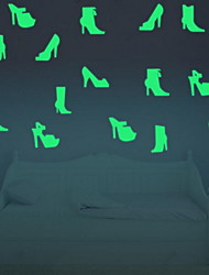 Shape High-heeled Shoes Luminous Wall Stickers Vinyl Material Home Decoration Random type