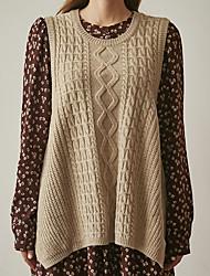 17 printemps nouvelle version coréenne de casual rétro laine de torsion sauvage veste gilet de chandail chandail