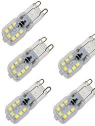 4W G9 LED a pannocchia T 14 SMD 2835 350 lm Bianco caldo Luce fredda Intensità regolabile Decorativo AC 220-240 V 5 pezzi