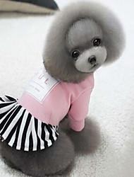 Собака Плащи Одежда для собак Спорт Сплошной цвет Черный Красный Розовый