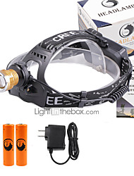 U'King® ZQ-X839GO#5-US 2* CREE XPE Natural/ UV Purple 4Mode Zoomable Multifunction Headlamp Bicycle Light Kit