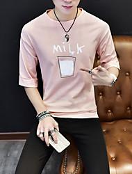 trendy sind 95% Baumwolle, 5% Elasthan Sommer neue koreanische Version von Casual Kurzarm-T-Shirt mit großen Yards