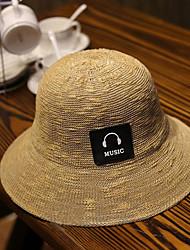 Women's Fashion Straw Hat Sun Hat Beach Cap Folding Bucket Hat Casual Holiday Outdoors Summer