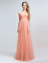 Formal Evening Dress Sheath / Column Sweetheart Floor-length Chiffon with Side Draping