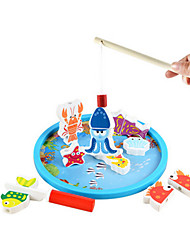 Fishing Toys Model & Building Toy Toys Novelty Toys Wood Rainbow For Boys
