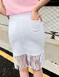 unterzeichnen Frühling und Sommer neue koreanische dünne stilvolle weißen Fransen Röcke wilde Frauen