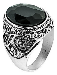 Ring Daily Casual Jewelry Alloy Agate Ring 1pc,8 9 10 11 Black